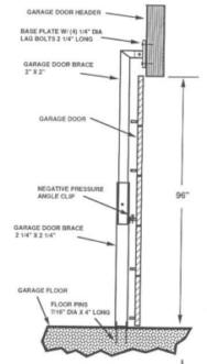 garage door braceGarage Door Brace  120 mph engineer certified Aluminum